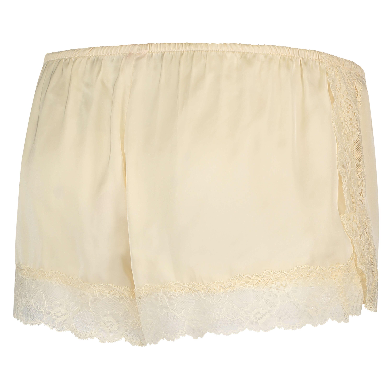 Satin pyjama shorts, Beige, main