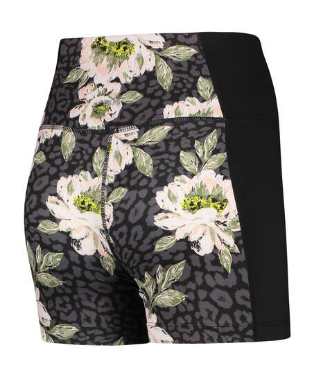 HKMX high waisted shorts Bloom, Black