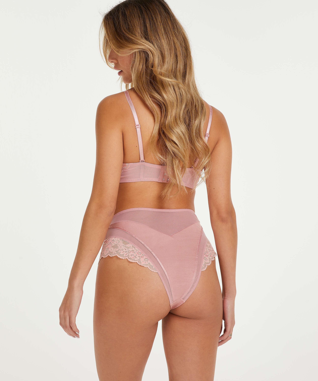 Aimee padded strapless underwired bra, Pink, main