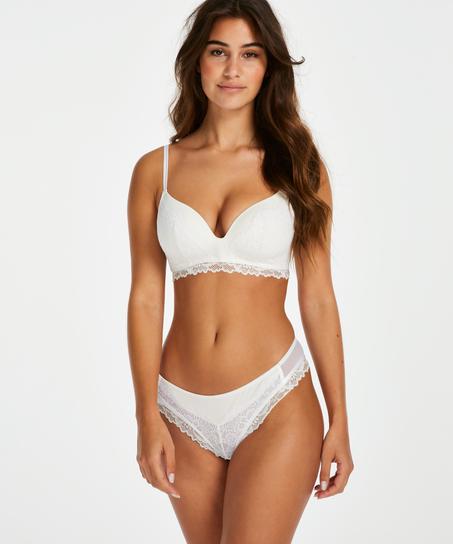 Yvonne padded non-underwired bra, White