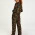 Twill Long-sleeved Pyjama Top, Black