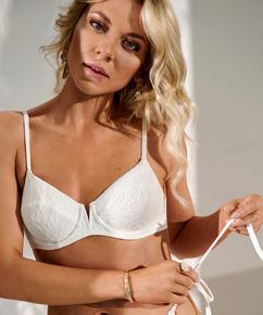 Libby non-padded underwired bikini top, White