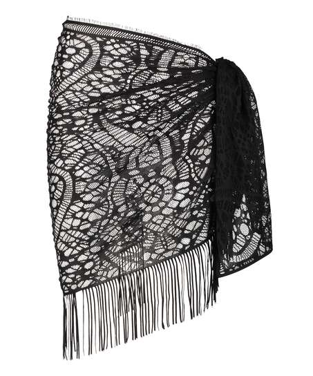 Pareo Crochet, Black