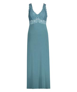 Nora Lace Long Slip Dress, Green