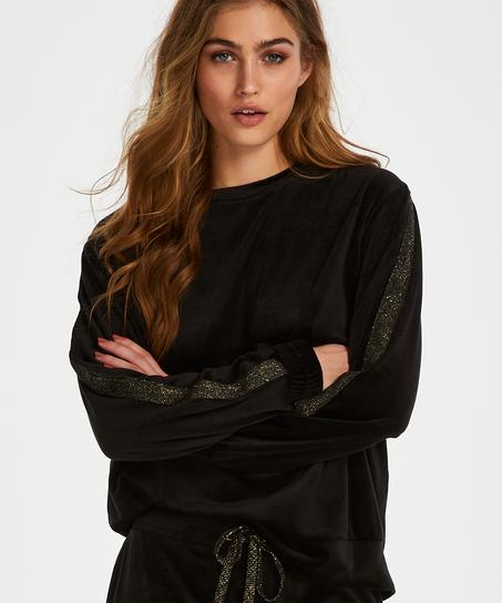 Velvet Shimmer top, Black