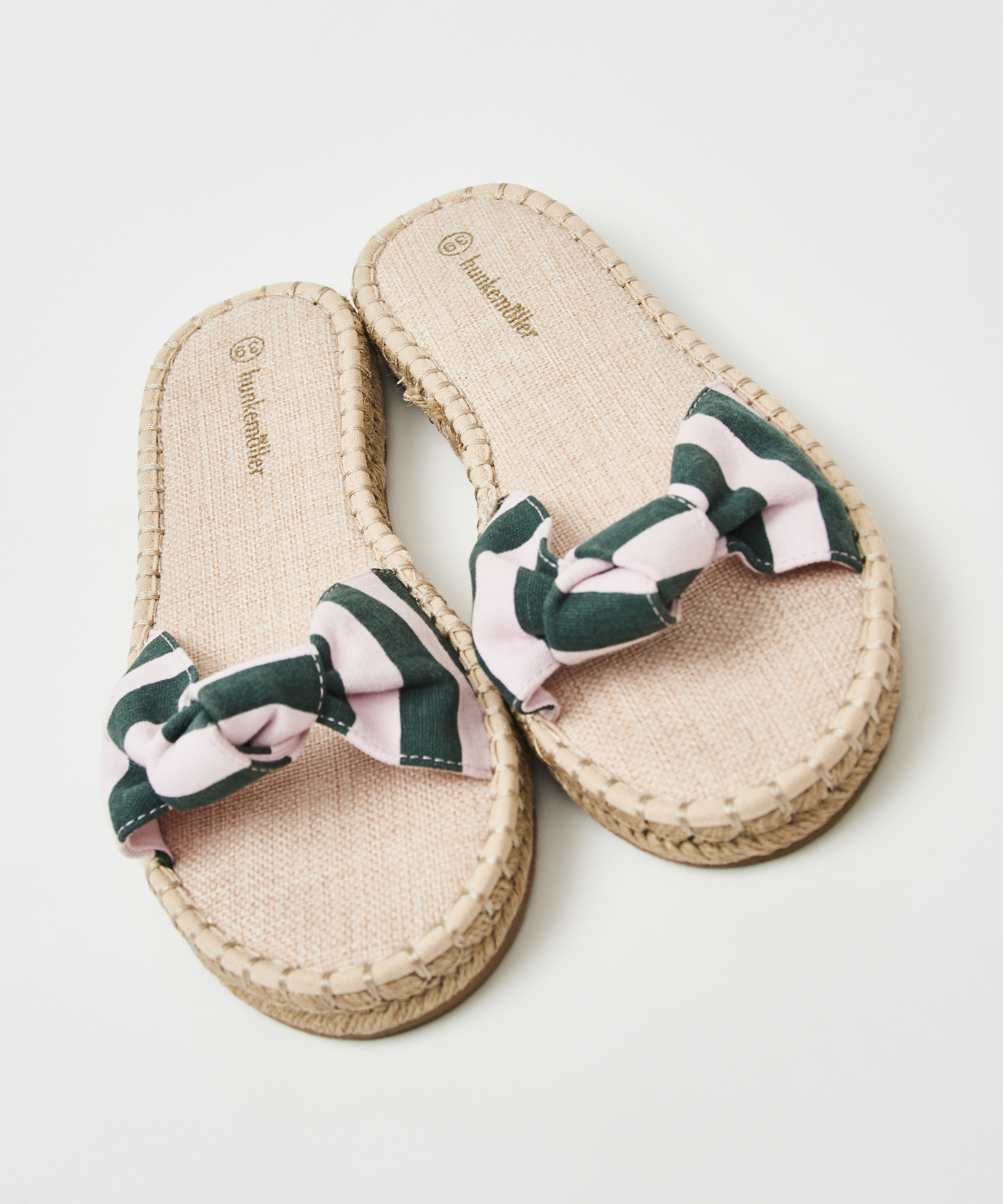 Printed Knot Sandals, Green, main