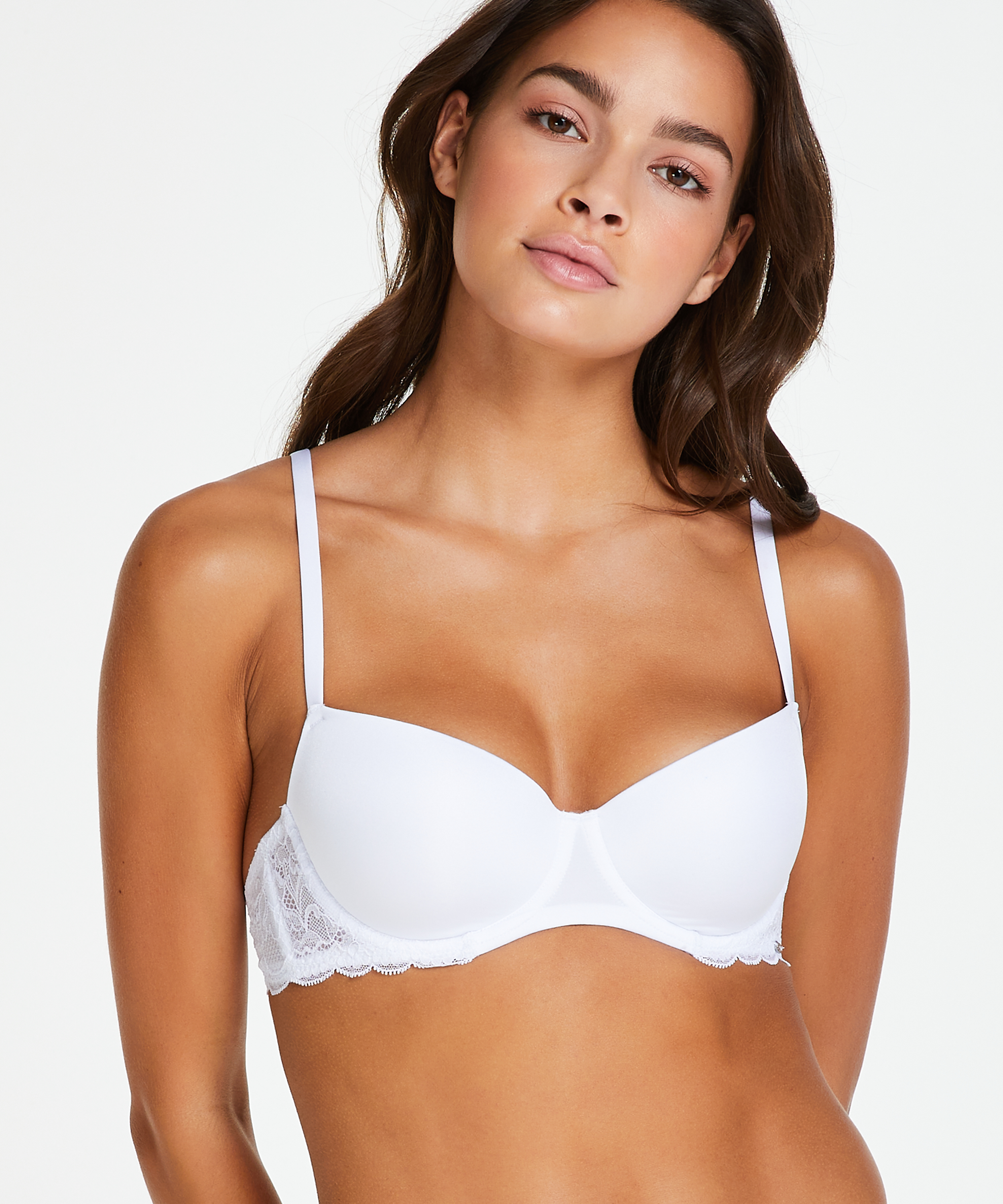 Angie Padded Underwired Bra, One & Only, White, main