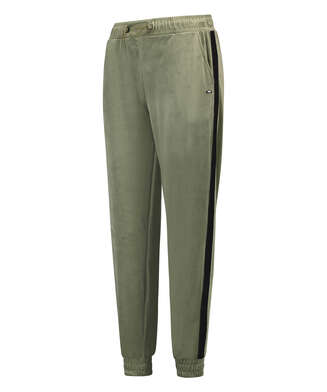 HKMX High waisted jogging pants Velours Malila , Green