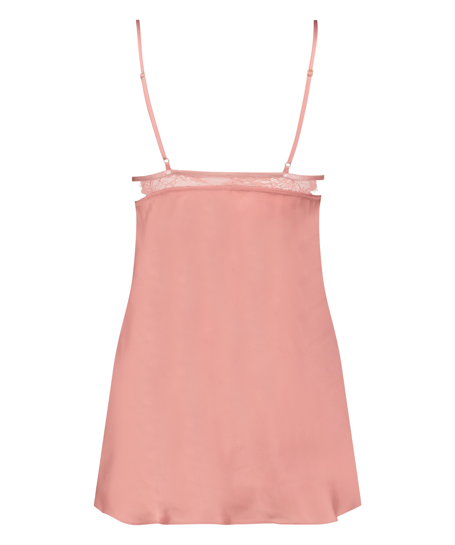Satin Holly slip dress, Pink, main