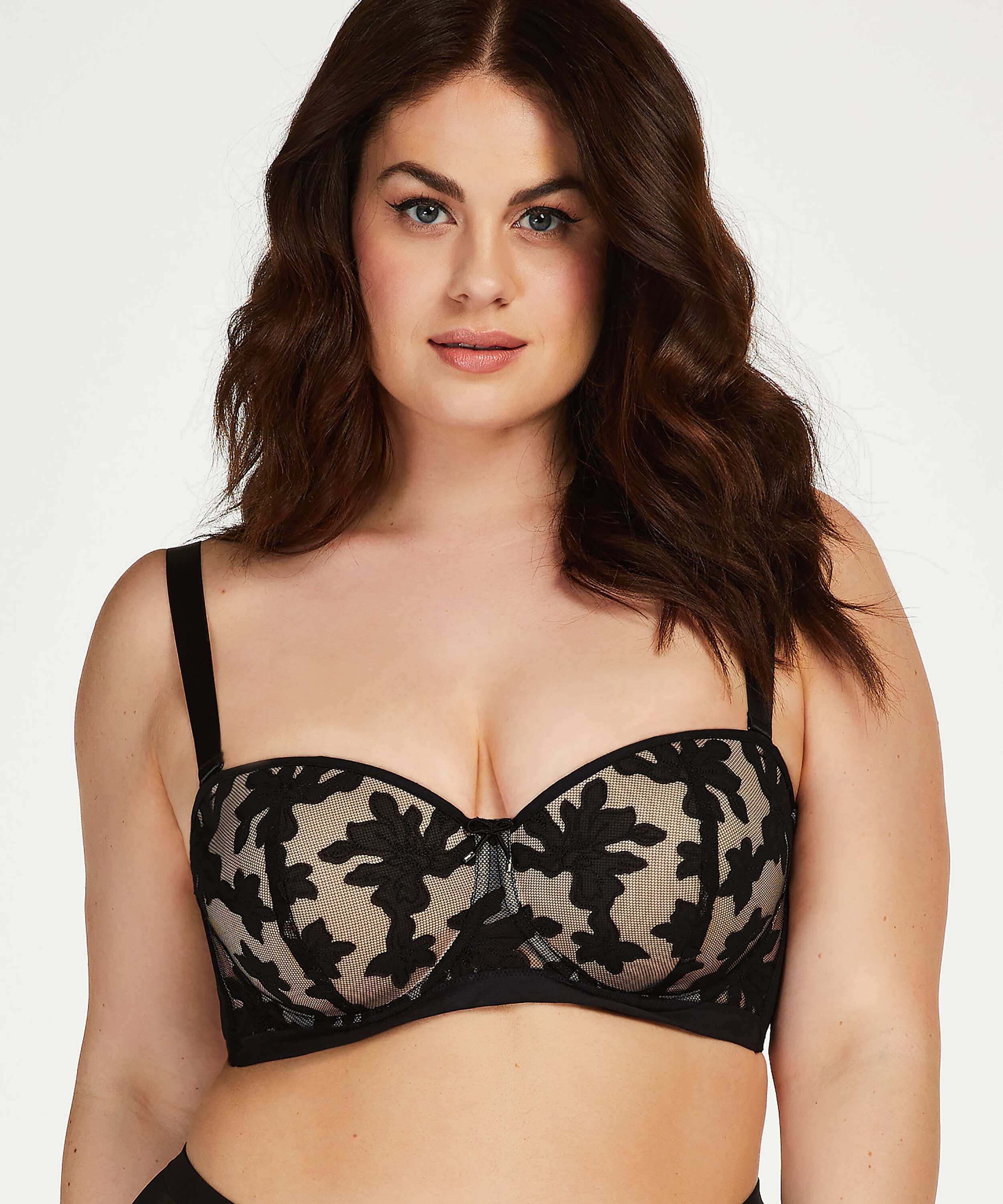 Ramona padded strapless underwired bra I AM Danielle, Black, main