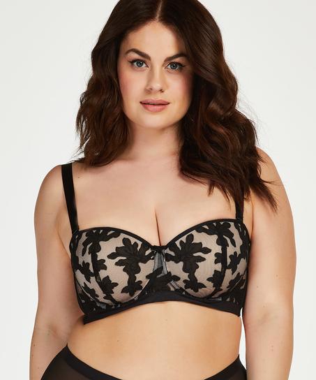 Ramona padded strapless underwired bra I AM Danielle, Black