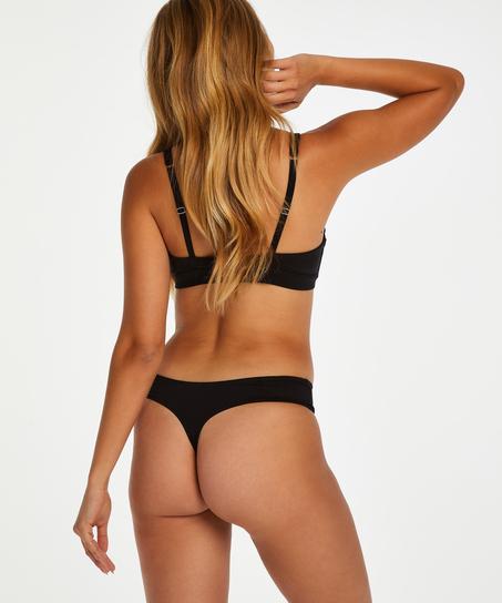 Soft non-padded non-underwired bra, Black