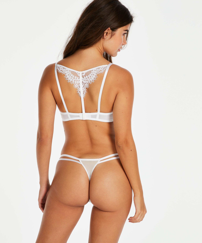 Leyla tanga thong, White, main