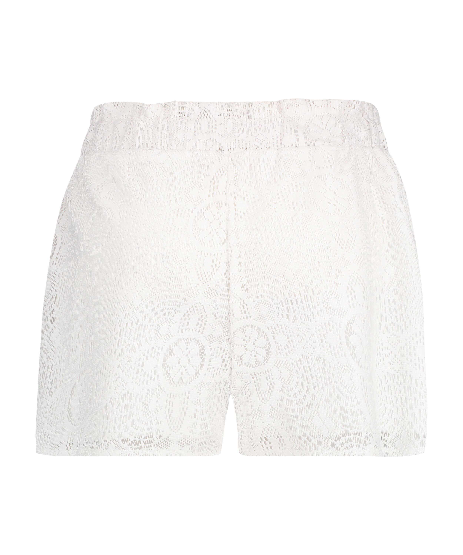 Lace shorts, White, main