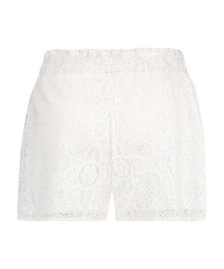 Lace shorts, White