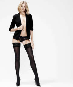Hold-ups 50 Denier Lace, Black