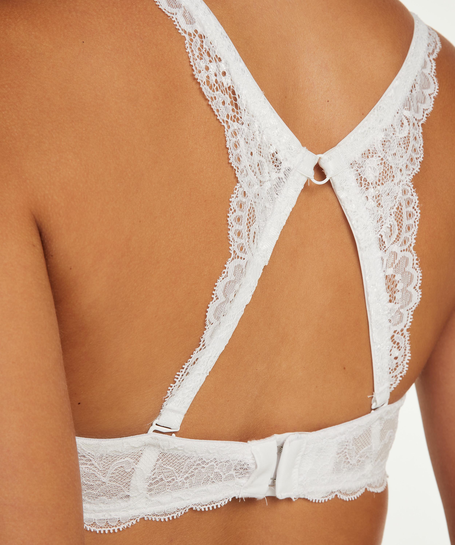 Lace Back Detail , White, main