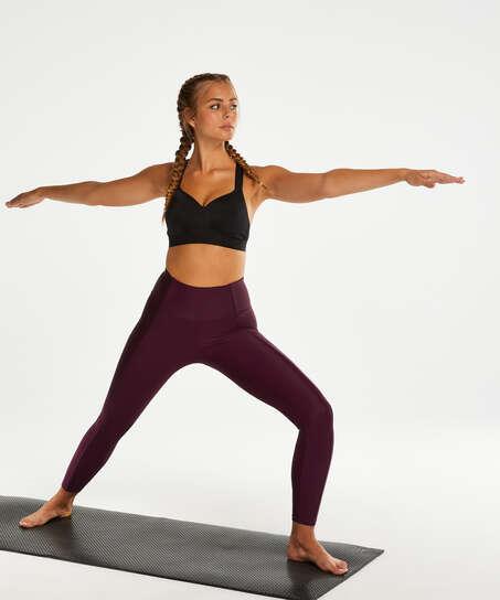 HKMX High waisted sports leggings Shine On, Purple