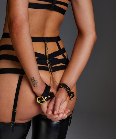 Ivy high waist thong, Black