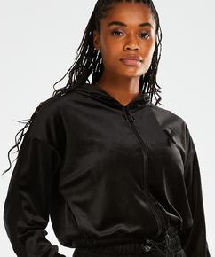 HKMX Sport jacket Velours, Black