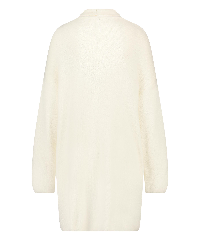Premium Fluffy Long Vest, White, main