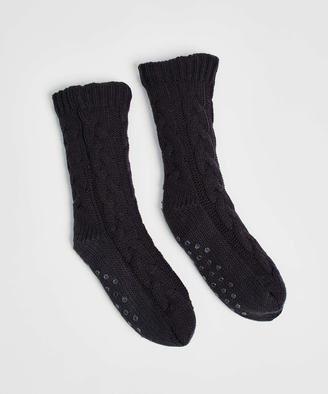 Knitted socks, Grey, main