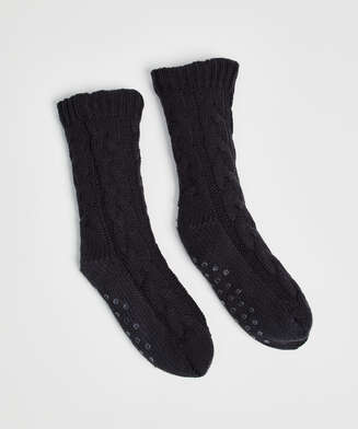Knitted socks, Grey