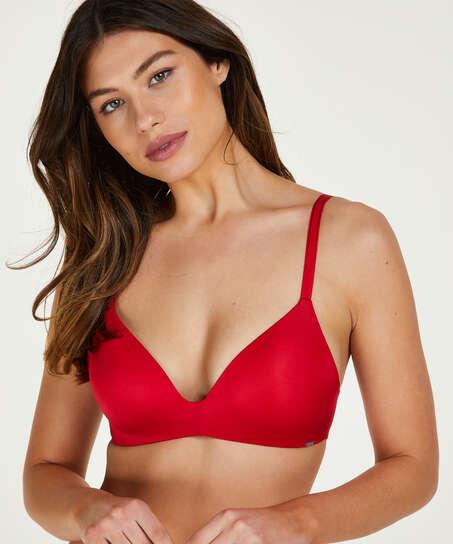 Mona padded non-underwired bra, Red