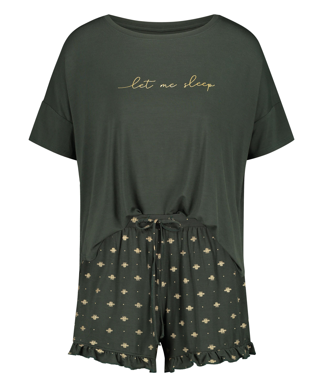 Short pyjama set, Green, main
