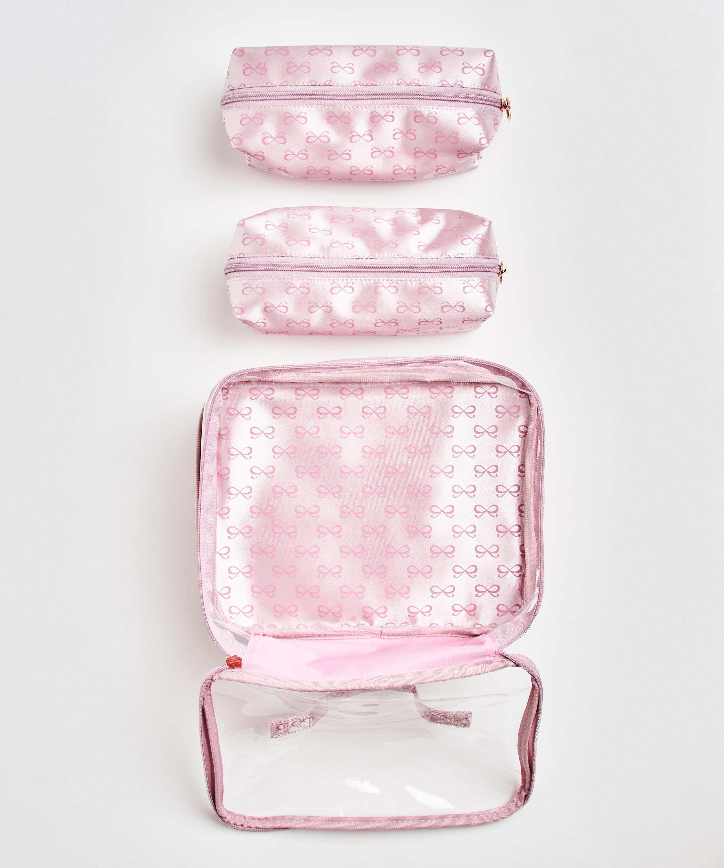 3 pack make-up bag, Pink, main