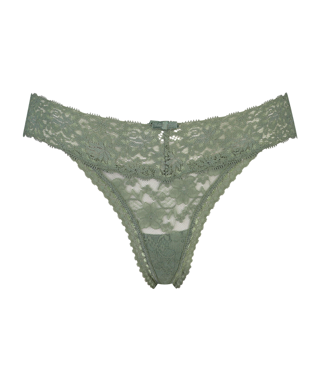 Extra Low V-Thong, Green, main