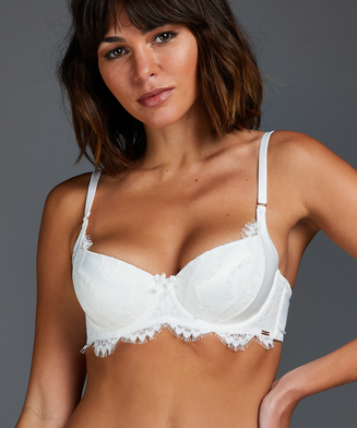 Hannako padded underwired bra, White