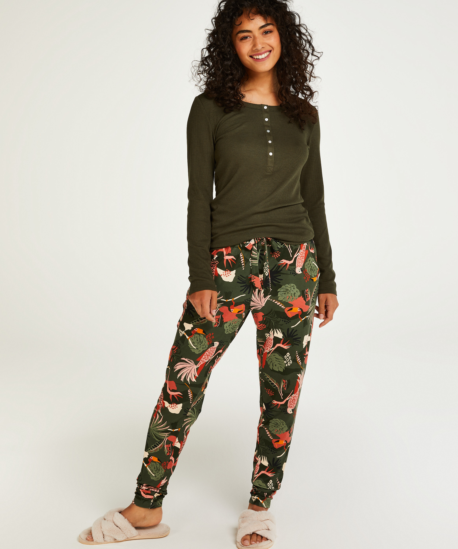 Petite Jersey pyjama bottoms, Green, main