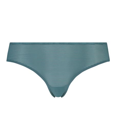 Invisible Brazilian Stripe mesh, Blue