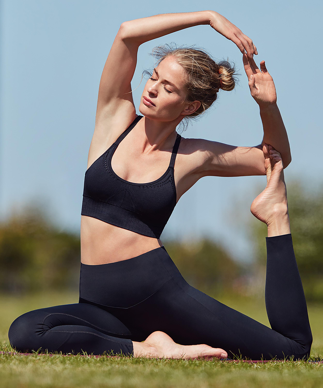 HKMX Make Me Zen High Waisted Leggings, Black, main