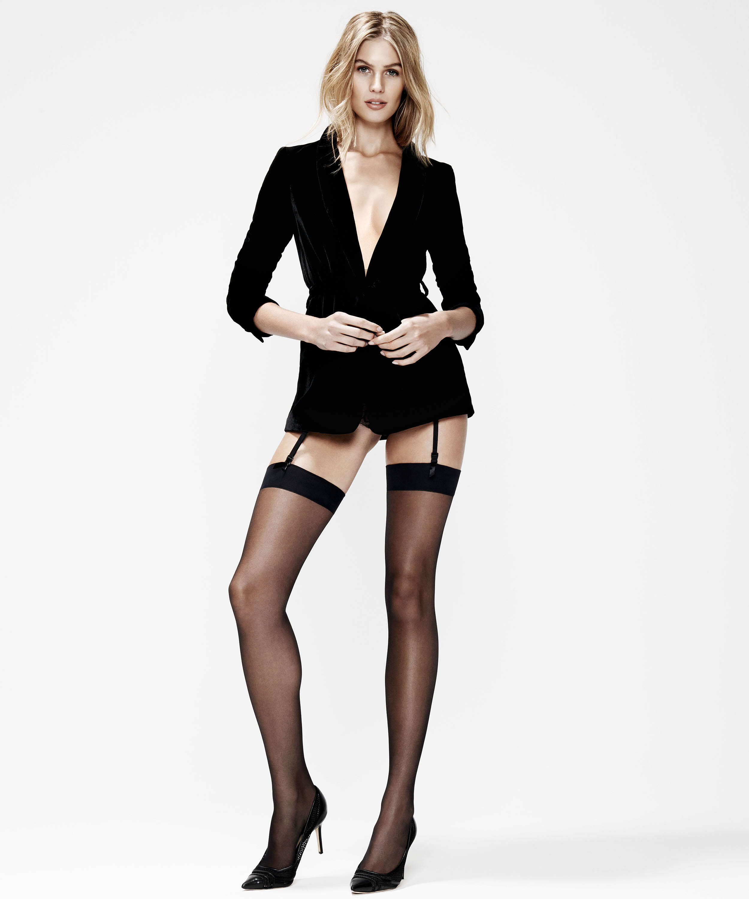 Stockings 15 Denier Clean Edge, Black, main