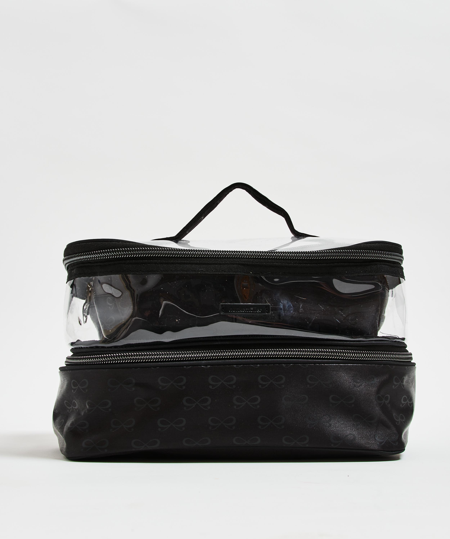 3 pack make-up bag, Black, main