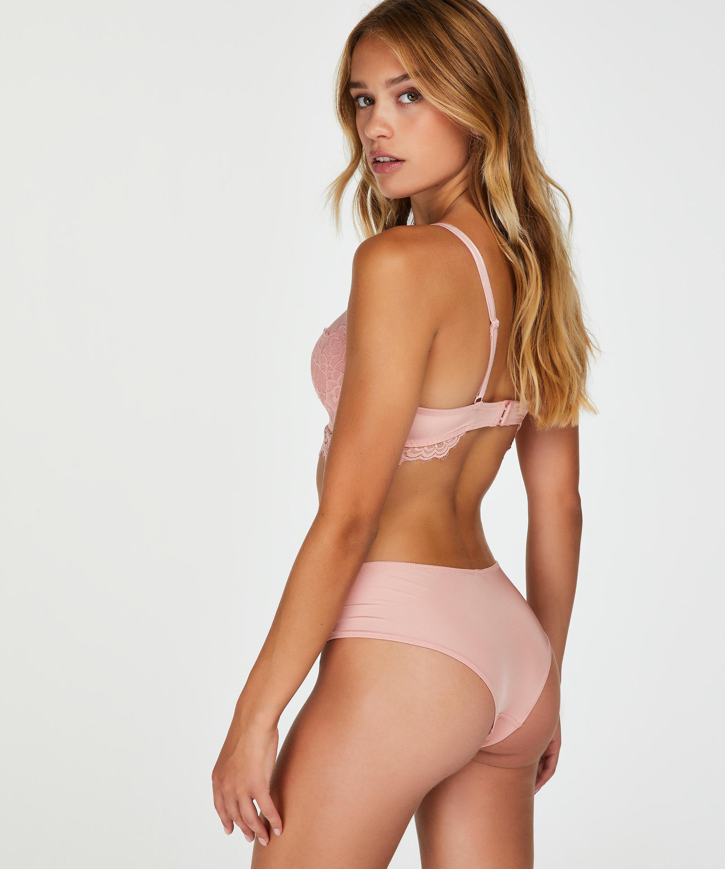 Sabina padded longline non-wired bra, Pink, main