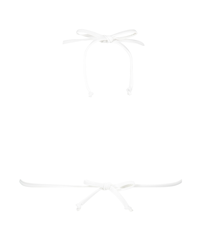 Remi Stitch triangle bikini top, White, main