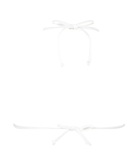 Remi Stitch triangle bikini top, White