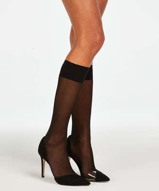 2 pairs of high socks, Black