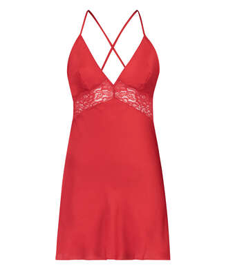 Nina Slip Dress, Red