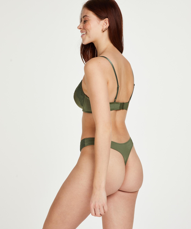 Gina Padded underwired bra, Green, main