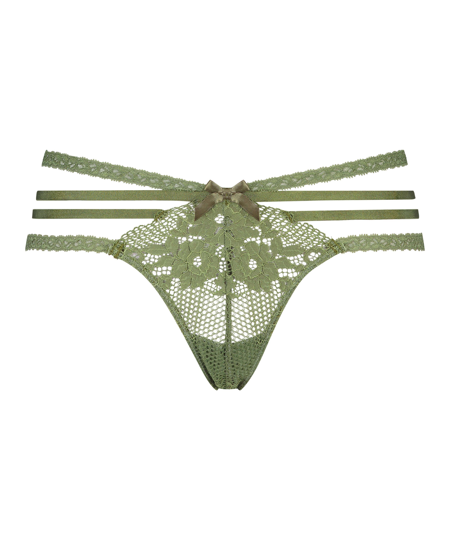 Bonnie low thong, Green, main