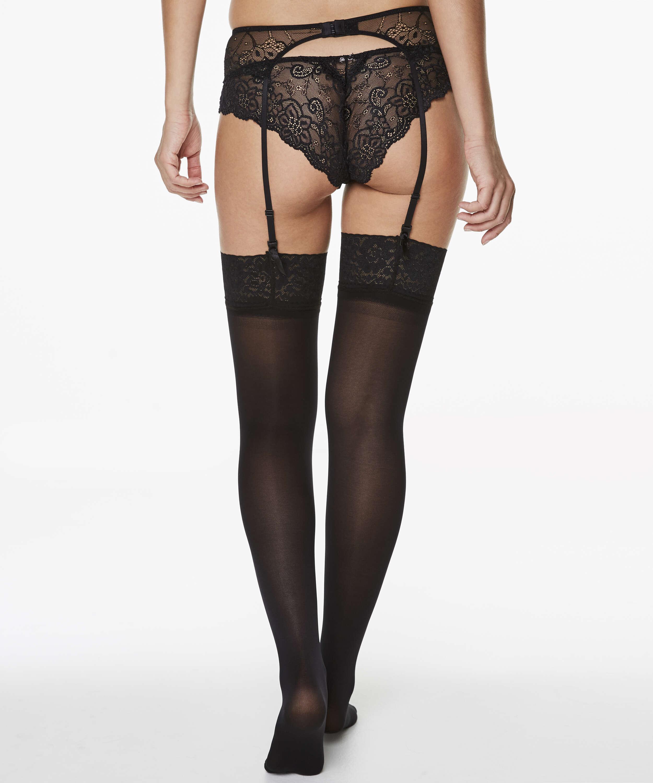 Stockings 50 Denier Lace, Black, main