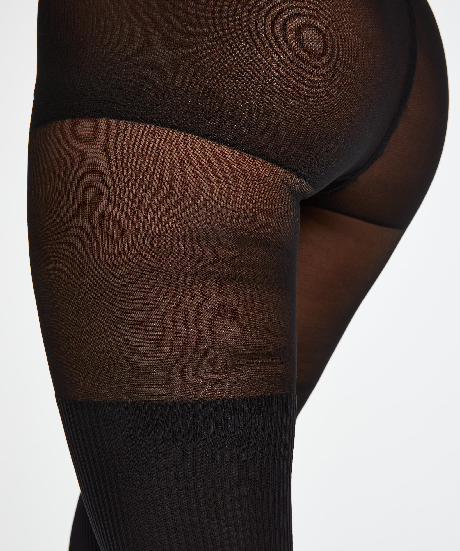 50 Denier tights Overknee sock, Black, main
