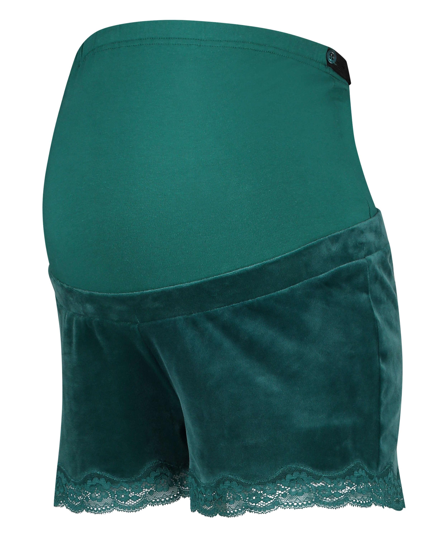 Velours maternity shorts, Grey, main