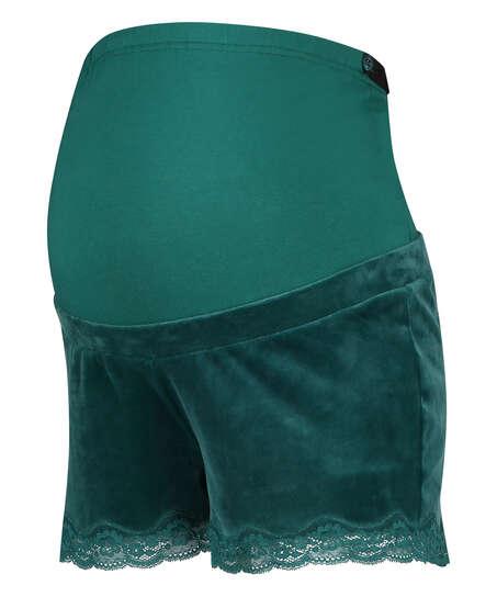 Velours maternity shorts, Grey