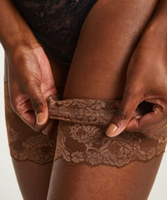 Lace thigh bands, Brown