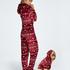 Flannel Fleece Onesie, Red